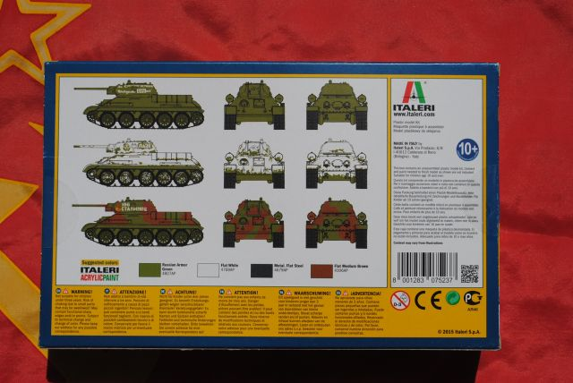T34//76 M42 Tank 1:72 Plastic Model Kit 7523 ITALERI