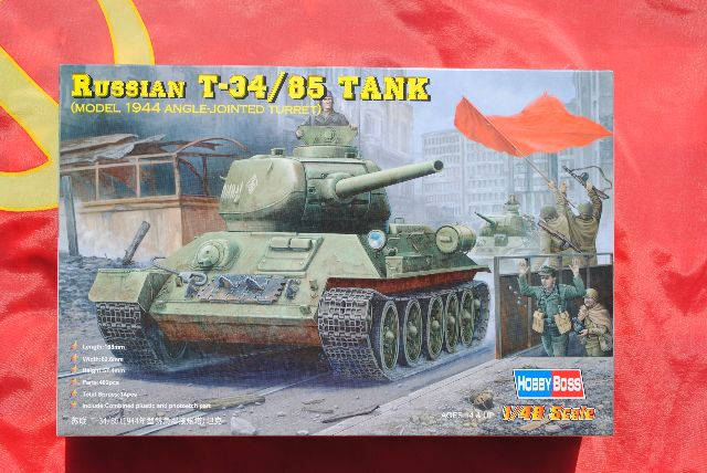 Hobbyboss 1//48  84809 Russian T34//85 1944 Tank With Angle-jointed Turret