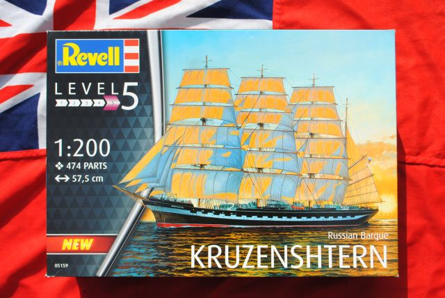 Revell 05159/ 14/ Modellino Russian Barque Kruz enshtern in Scala 1 200 Level 5