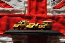 76SET23  3 Piece Set - Tilly, Davis Brown tractor and Land Rover