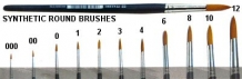 50201 000 Brush Synthetic Round