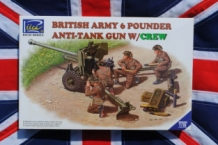 RIICH RV35042 British Army 6 POUNDER Anti-Tank Gun with Crew