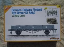 CH9114  German Railway Flatbed Typ Ommr (2 Axle) with MG Crew