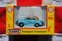 Classix EM76822 Morris Minor Convertible - Pale Blue - hood up