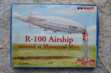 Maquette MQ-5000 R-100 Airship moored at Mountreal Mast schaal 1:500