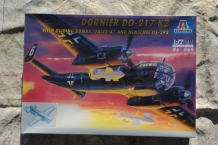 "Italeri 069 DORNIER Do-217 K2 with Gliding Bomb's ""FRITZ-X"" and Henschel Hs-293"