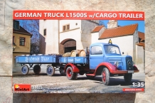 Mini Art 38023 GERMAN TRUCK L1500S with CARGO TRAILER